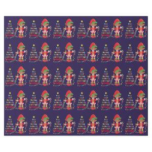 Personalize Multicultural Boy Elf Wrapping Paper
