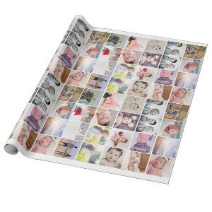 Personalized 20 Photo Collage Wrapping Paper