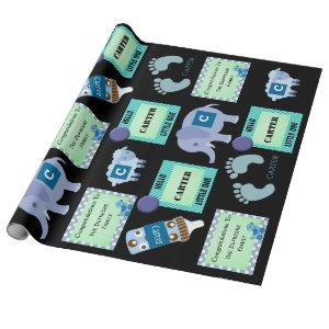 Personalized Baby Boy Wrapping Paper