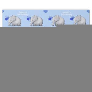 Personalized Baby Elephants 1st Kid Birthday Party Wrapping Paper