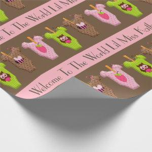 Personalized Baby Girl Wrapping Paper