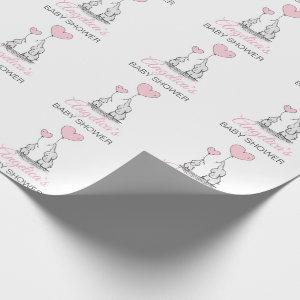 Personalized BABY SHOWER Pink Elephant GIRL