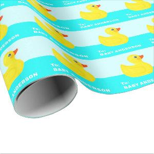 personalized baby shower wrapping paper
