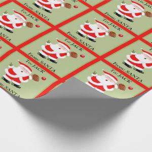 personalized baseball Christmas Wrapping Paper