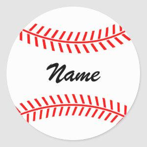Personalized baseball stickers   ball with name