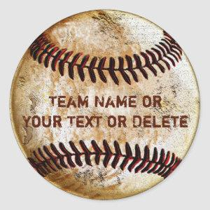 Personalized Baseball Stickers with YOUR TEXT