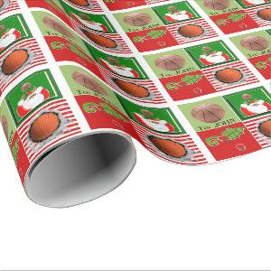 personalized basketball Christmas Wrapping Paper
