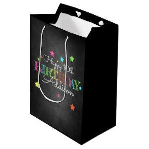 Personalized Birthday Medium Gift Bag