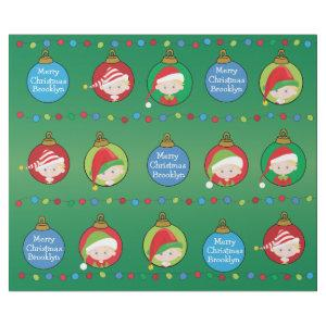 Personalized Blonde Boy Elf Wrapping Paper