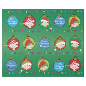 Personalized Brunette Boy Elf Wrapping Paper