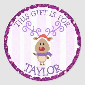 Personalized Christmas Tags Cute Reindeer