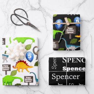 Personalized Dinosaurs Birthday  Sheets