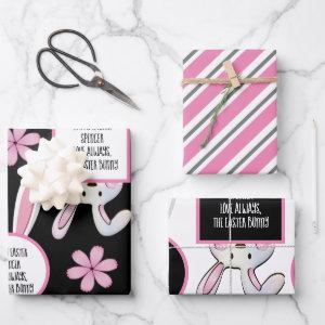 Personalized Easter Bunny Wrapping Paper Sheets