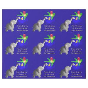 Personalized Elephant-astic Xmas Dumbo Loving Kid Wrapping Paper