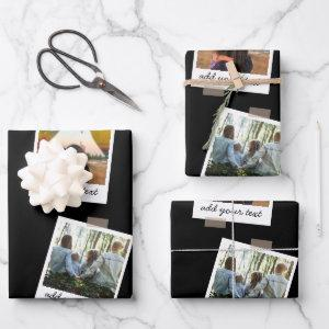 Personalized Family 6 Photo Custom Collage Wrapping Paper Sheets