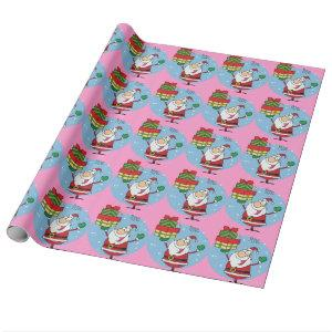 Personalized Funny Christmas gift idea cartoon Wrapping Paper