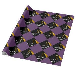 personalized graduation gift wrapping paper