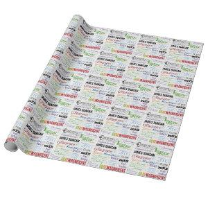 Personalized Graduation Word Art Wrapping Paper