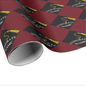 personalized graduation wrapping paper