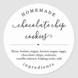 Personalized Homemade Food Sticker