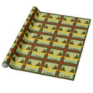 personalized lawyer Christmas Wrapping Paper