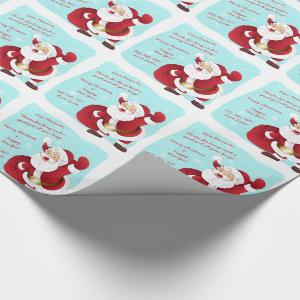 Personalized Letter from Santa Christmas Wrapping Paper