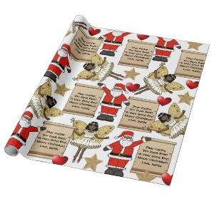 Personalized Letter/Gift From Santa Wrapping Paper