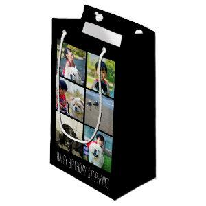 Personalized Multi-Photo Mosaic Picture Collage Small Gift Bag