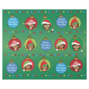 Personalized Multicultural Girl Elf Wrapping Paper