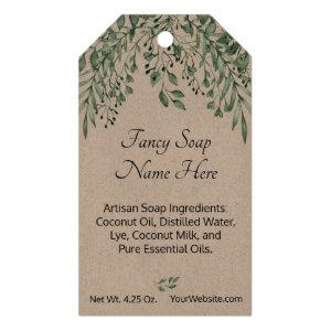 Personalized My Shower to Yours Artisan Soap Kraft Gift Tags