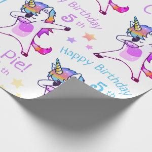 Personalized Name and Age Unicorn Birthday Party