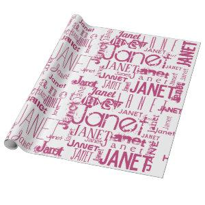 Personalized Name Typography Wrapping Paper
