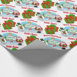 Personalized North Pole Santa! Wrapping Paper