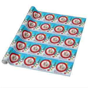 Personalized Photo Christmas Wrapping Paper