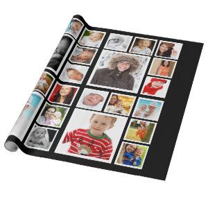 Personalized Photo Collage Wrapping Paper