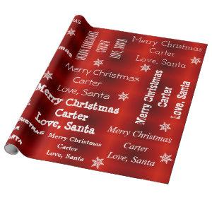 Personalized Santa Christmas Wrapping Paper