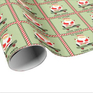 personalized skateboarding holiday gift wrapping paper
