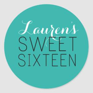 Personalized Sweet 16 Favor Stickers