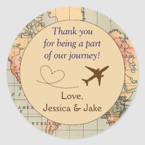 Personalized Thank You Stickers- Wedding Favors Classic Round Sticker
