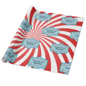 Personalized Vintage Circus Wrapping Paper