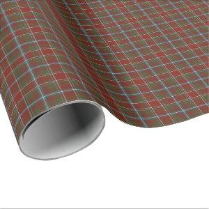 Perthshire Scotland Weathered Tartan Wrapping Paper
