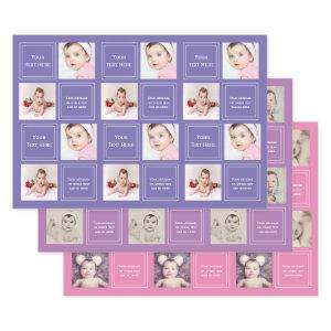 Photo Collage Personalized Template  Sheets