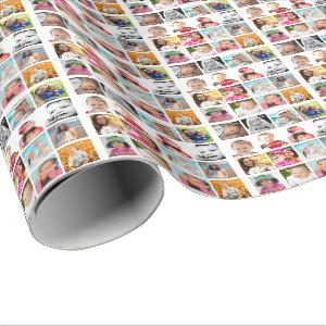 Photo Collage Personalized Wrapping Paper