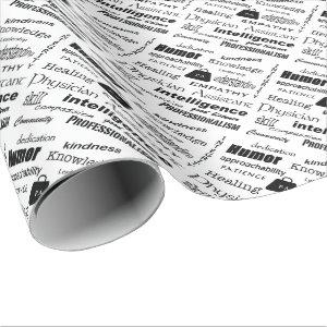 Physician Assistant Text Design Wrapping Paper