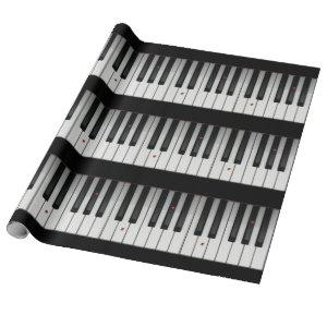 Piano Keys with Ladybugs Wrapping Paper