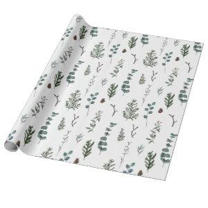 Pine and Eucalyptus Wrapping Paper
