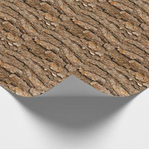 Pine Bark Texture Wrapping Paper