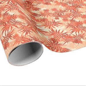 Pineapple Camo Hawaiian Tropical Wrapping Paper
