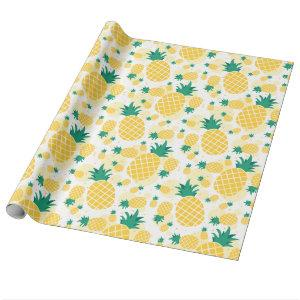 """Pineapple Glossy Wrapping Paper, 30"""" x 6' Wrapping Paper"""