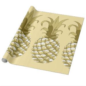 Pineapple Gold ID239 Wrapping Paper